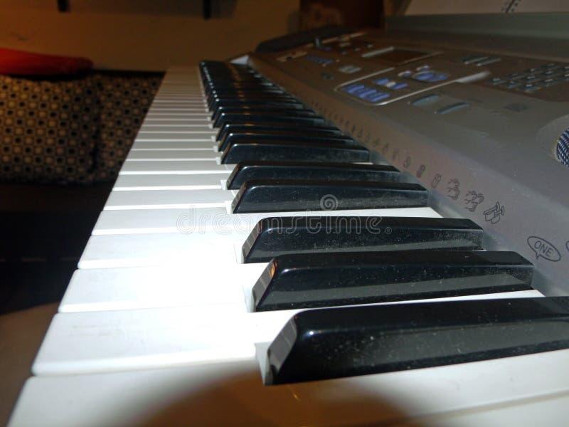 我的钢琴亮光钥匙  库存图片