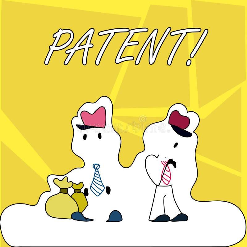 显示专利的文字笔记 赋予权力为使用卖做产品的企业照片陈列的执照 皇族释放例证