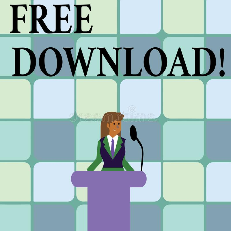 显示免费下载的概念性手文字 企业照片下载,不用任何充电网上技术的文本文件 皇族释放例证