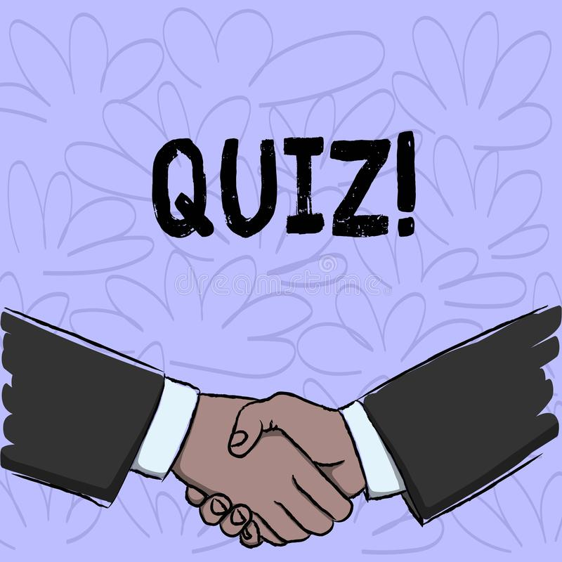显示测验的概念性手文字 企业照片文本短小测试定量您的知识的评估考试 皇族释放例证