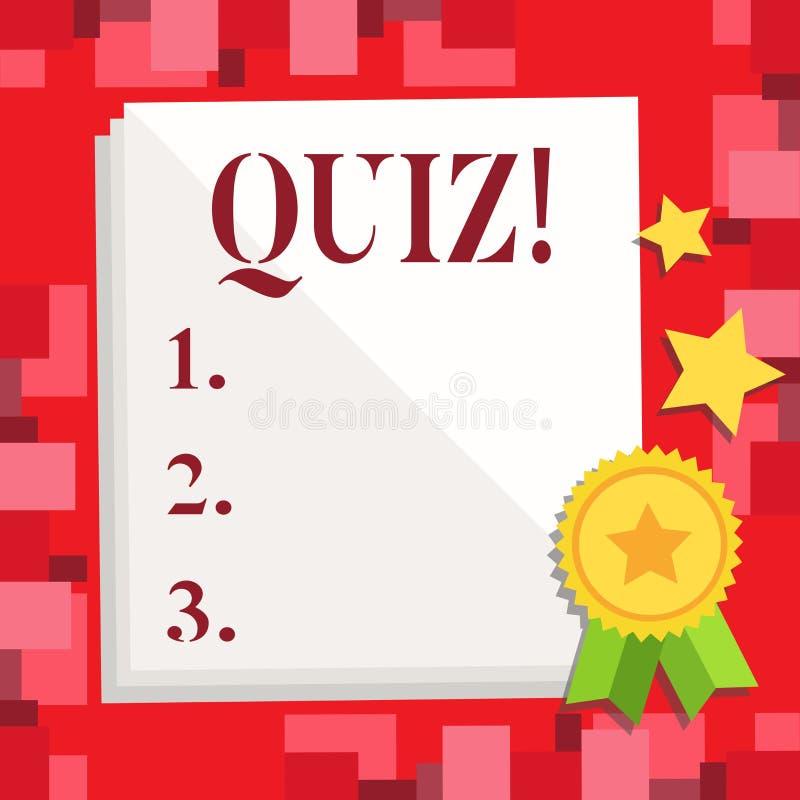显示测验的概念性手文字 陈列短的测试评估考试的企业照片定量您 向量例证
