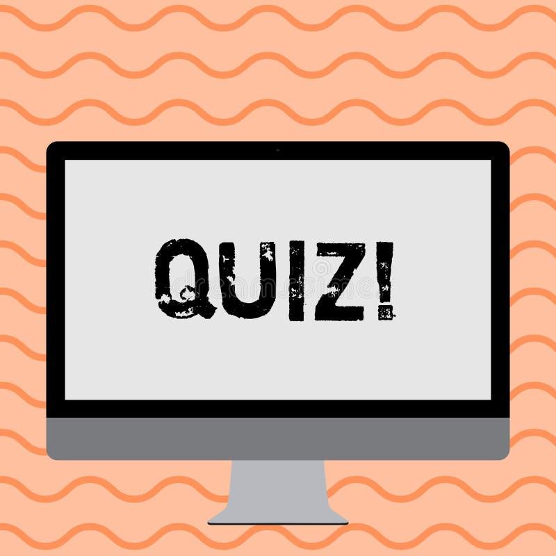 显示测验的文字笔记 陈列短的测试评估考试的企业照片定量您的知识 皇族释放例证