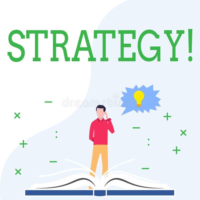 显示战略的概念性手文字 企业照片陈列的小组想法计划达到成功 库存例证