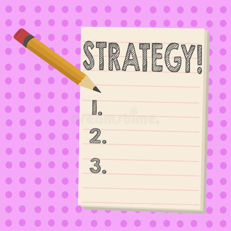 显示战略的文字笔记 企业照片陈列的小组想法计划达到成功 皇族释放例证