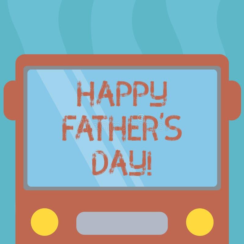 显示愉快的父亲s的概念性手文字是天 企业照片纪念爸爸和庆祝父权的文本庆祝 皇族释放例证