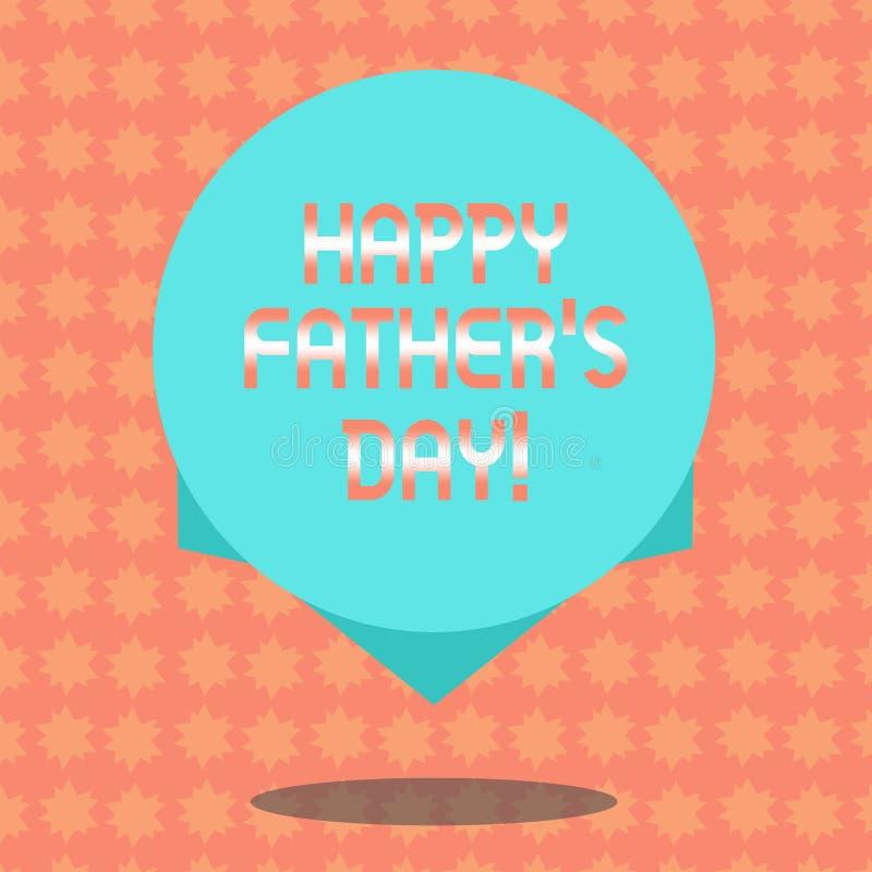 显示愉快的父亲s的文字笔记是天 纪念爸爸和庆祝父权空白的企业照片陈列的庆祝 向量例证