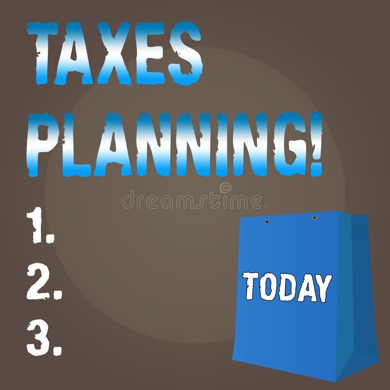 显示税务计划的概念性手文字 企业照片文本财政规划征税企业付款 向量例证