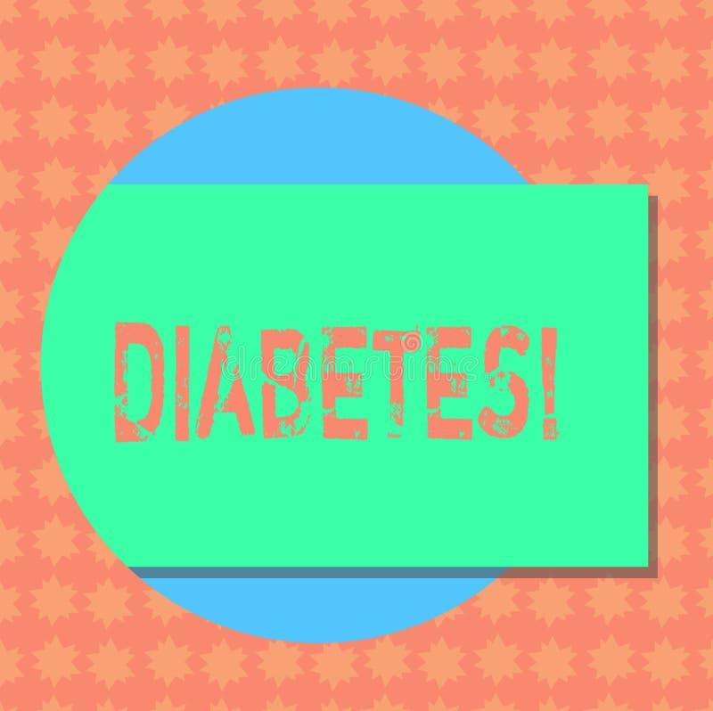 显示糖尿病的文字笔记 陈列健康状况的企业照片诊断用长方形incresed高级的糖 向量例证