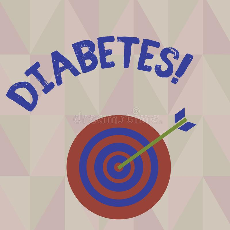 显示糖尿病的文字笔记 陈列健康状况的企业照片诊断用incresed高级糖 皇族释放例证