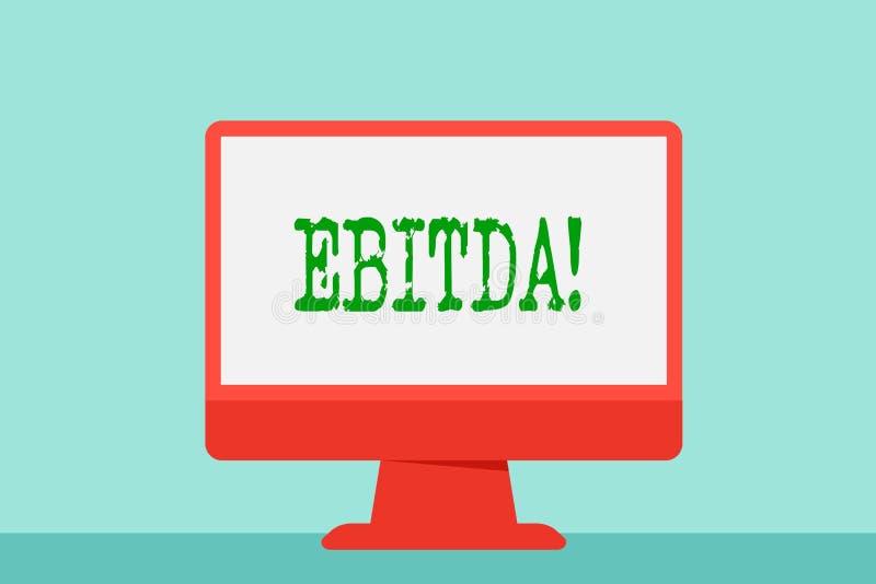 显示Ebitda的文字笔记 企业照片陈列的收入,在税被测量评估公司前 皇族释放例证