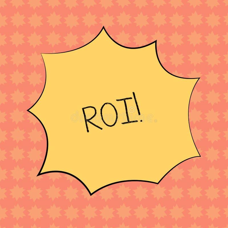 显示Roi的文字笔记 在赢利Perforanalysisce企业效率的措施评估的企业照片陈列的回归 向量例证