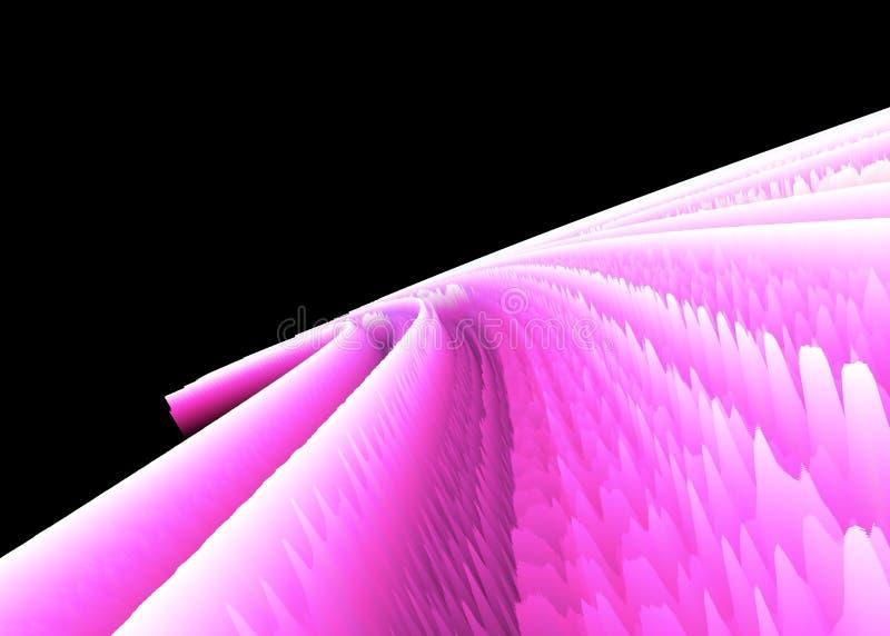 明亮的霓虹桃红色和白色海拔 库存例证