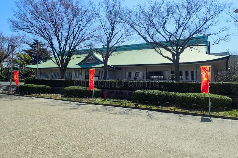 日本寺庙天空蔚蓝 免版税库存照片