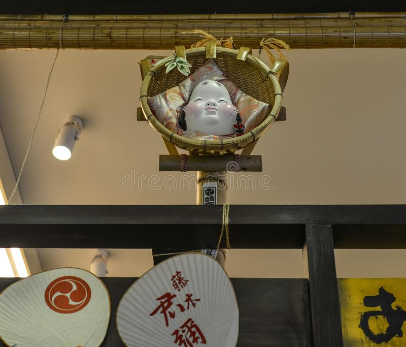 日本咖啡馆内部  免版税库存照片