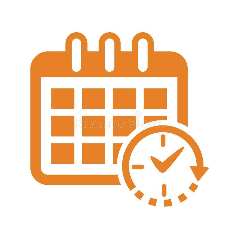 日程表象/定时器象 库存例证