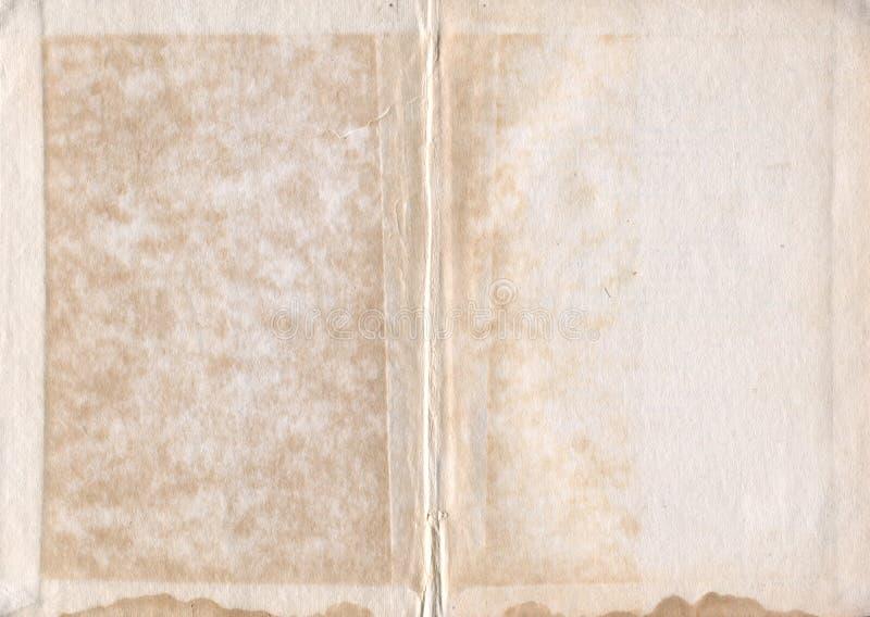 旧书纸难看的东西纹理 库存图片