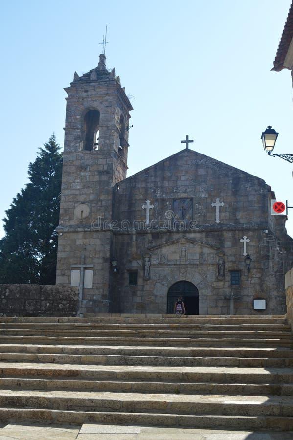 旧金山女修道院的主要门面在坎巴多斯 自然,建筑学,历史,旅行 2014年8月18日 比戈,坎巴多斯, 免版税库存图片