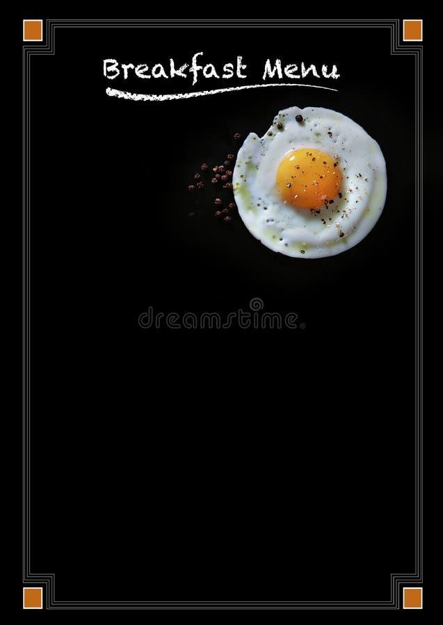 早餐菜单黑板海报 免版税图库摄影