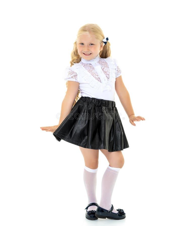 时兴的女孩一点 免版税图库摄影