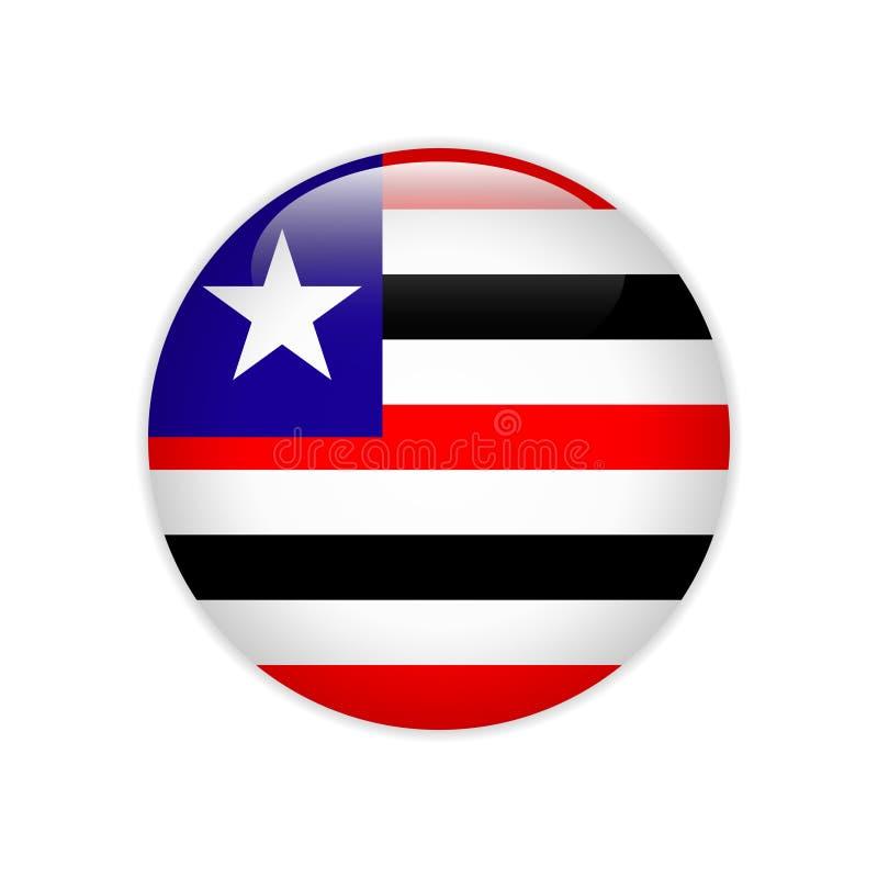 旗子Bandeira做在按钮上的马拉尼昂 向量例证