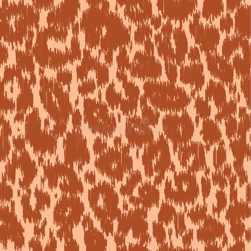 无缝的豹子狂放的自然刺绣样式 传染媒介动物印刷品 库存例证