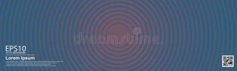 摘要梯度深蓝色环背景 皇族释放例证