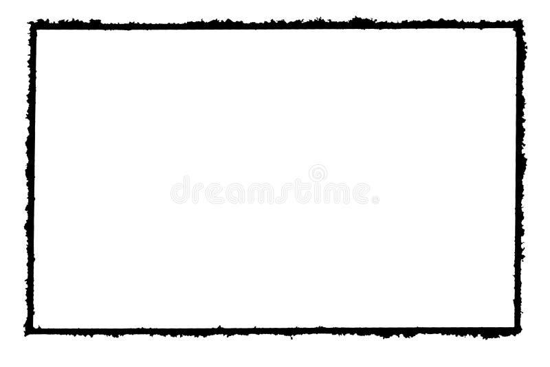 摘要装饰黑&白色相框 类型文本里面,使用作为覆盖物或为层数/剪报面具 皇族释放例证