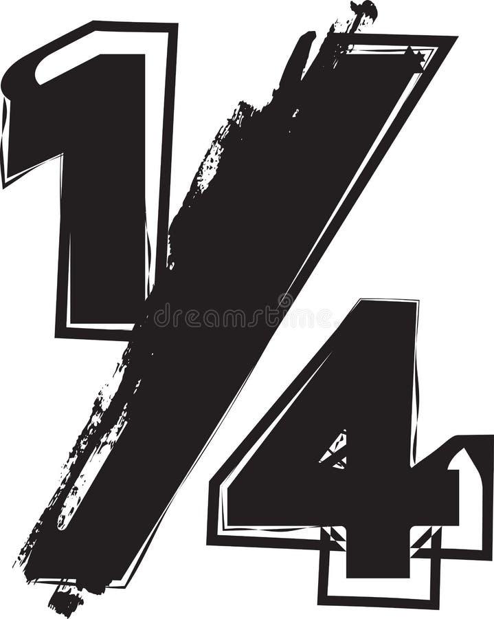摘要1/4标志 皇族释放例证