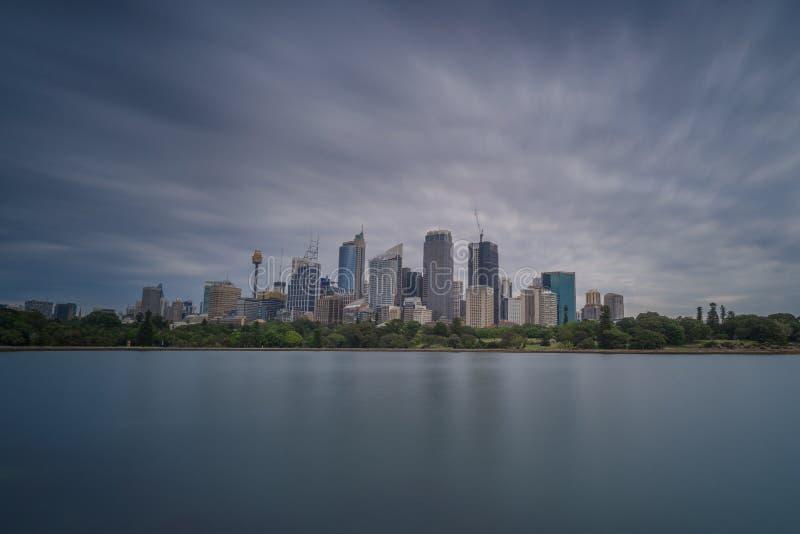悉尼多云地平线  免版税库存图片