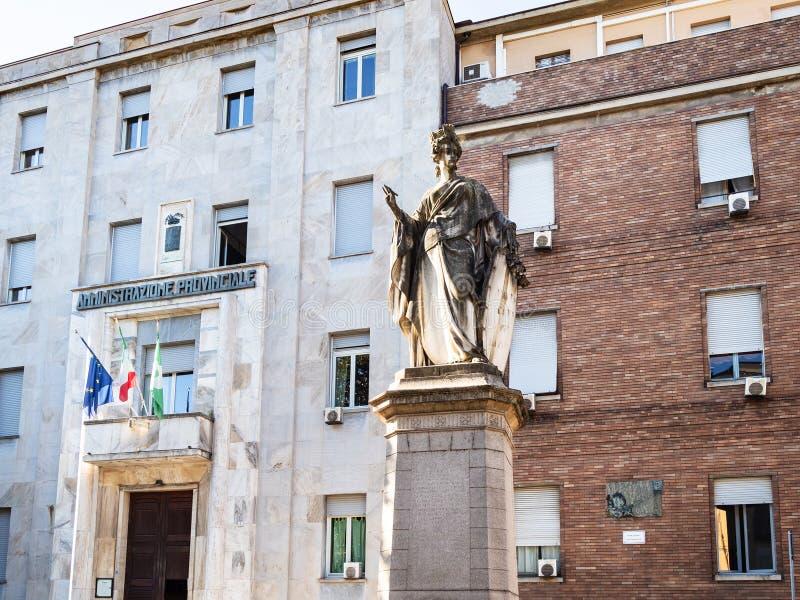 意大利Statua小山谷'意大利雕象在帕尔瓦市 库存照片