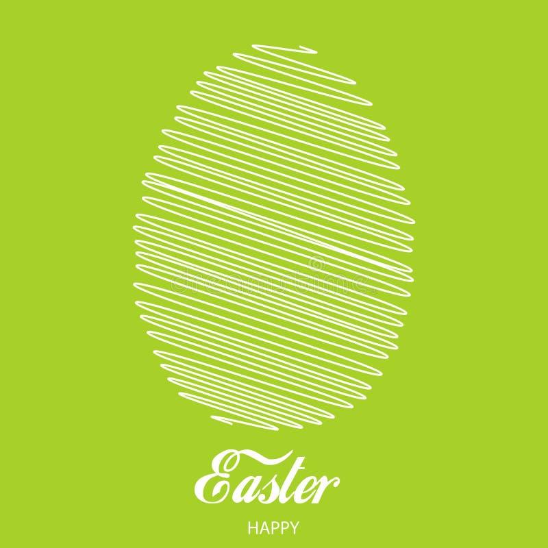 愉快的复活节卡片用被排行的鸡蛋 向量 向量例证