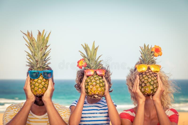愉快的家庭暑假 免版税图库摄影