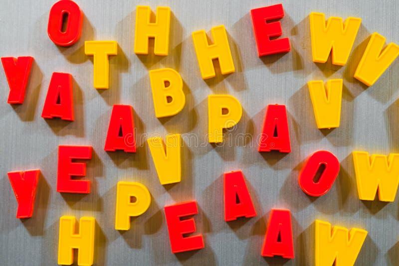 教的信件孩子斯拉夫语字母或拉丁语 免版税库存图片