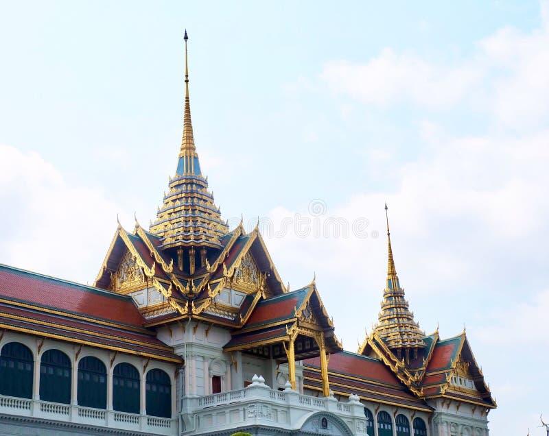 扎克里玛哈Prasat王位霍尔在曼谷,泰国 库存照片