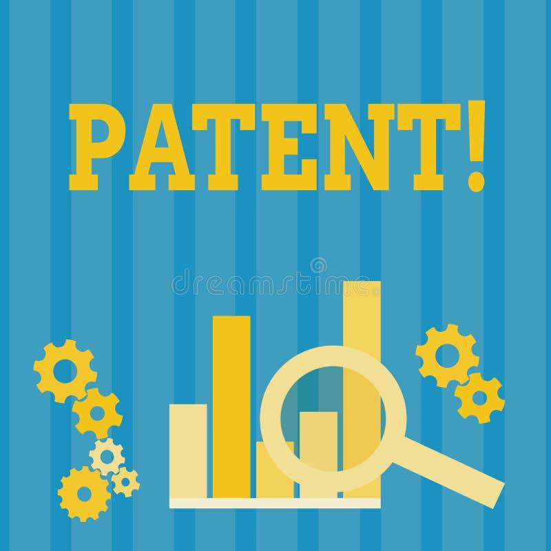 手写文本专利 概念赋予权力为使用卖做产品的意思执照 库存例证