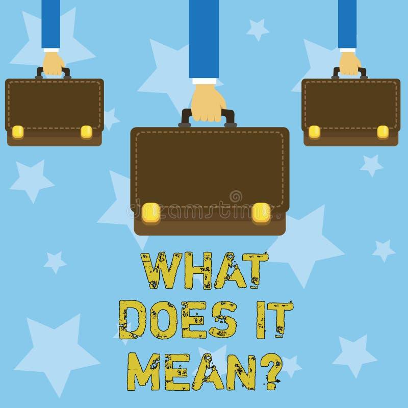 手写文本写什么做它Meanquestion 意味混乱求知欲问的概念询问 库存例证