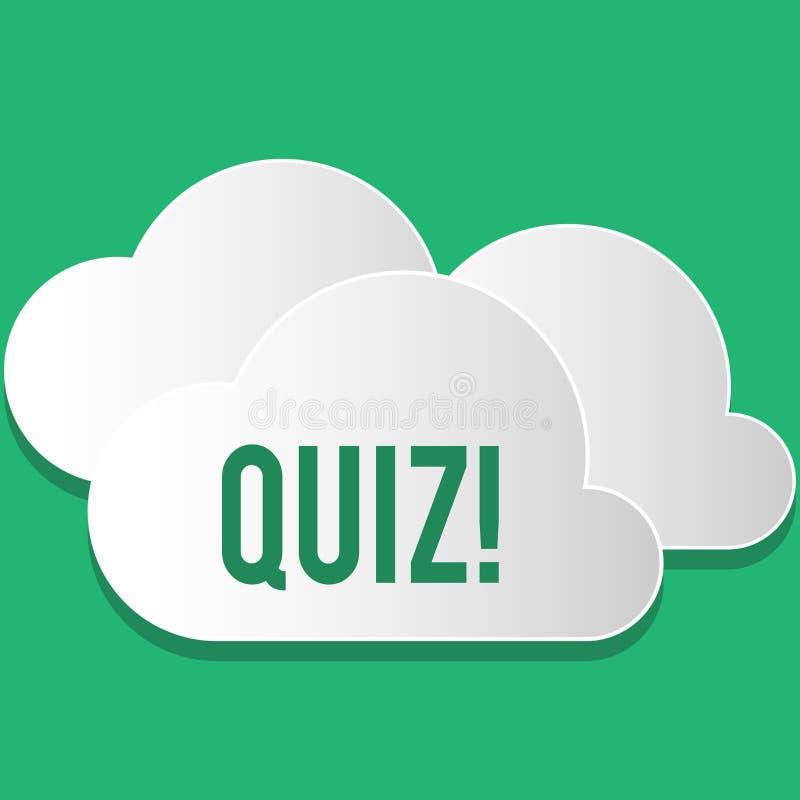 手写文本测验 定量您的知识的概念意思短的测试评估考试 向量例证