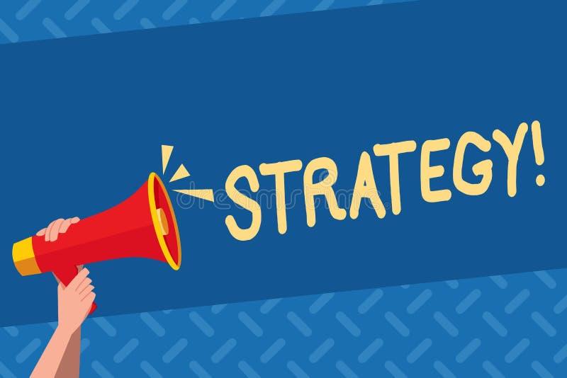 手写文本战略 概念意思小组想法计划达到成功 向量例证