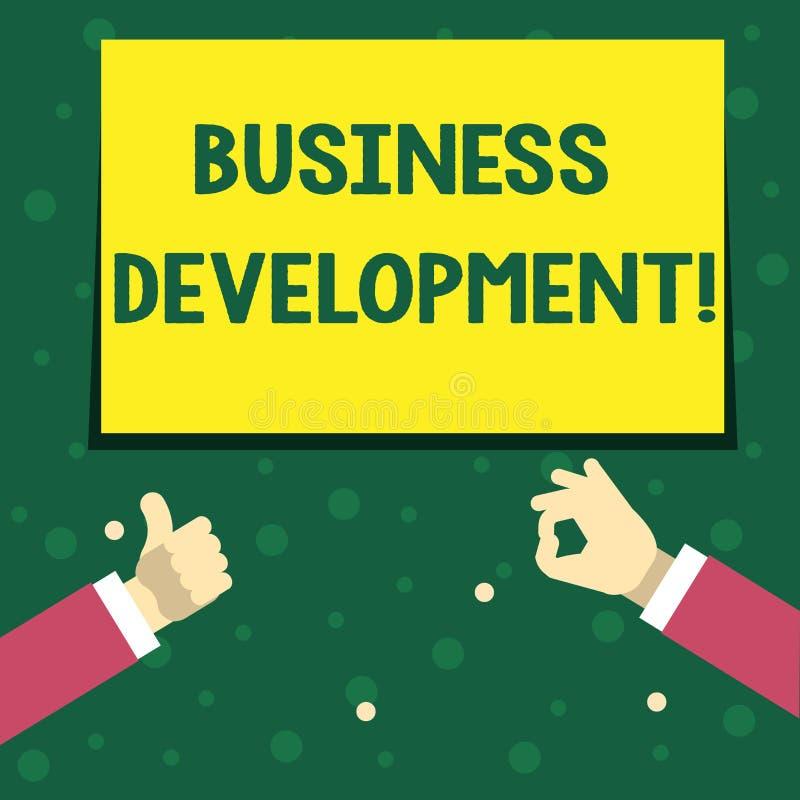 手写文本文字业务发展 概念意思开发和实施组织成长机会 皇族释放例证
