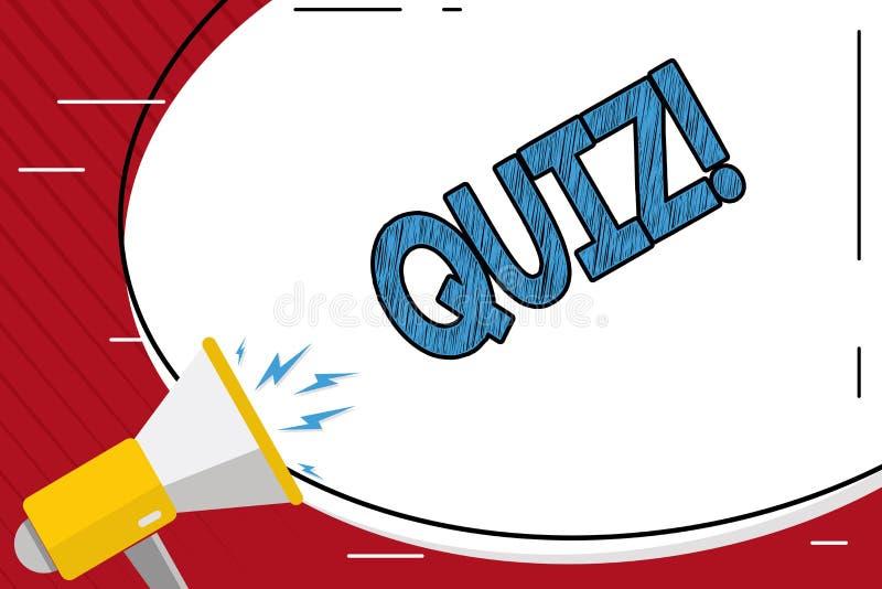 手写文本文字测验 定量您的知识的概念意思短的测试评估考试 库存例证