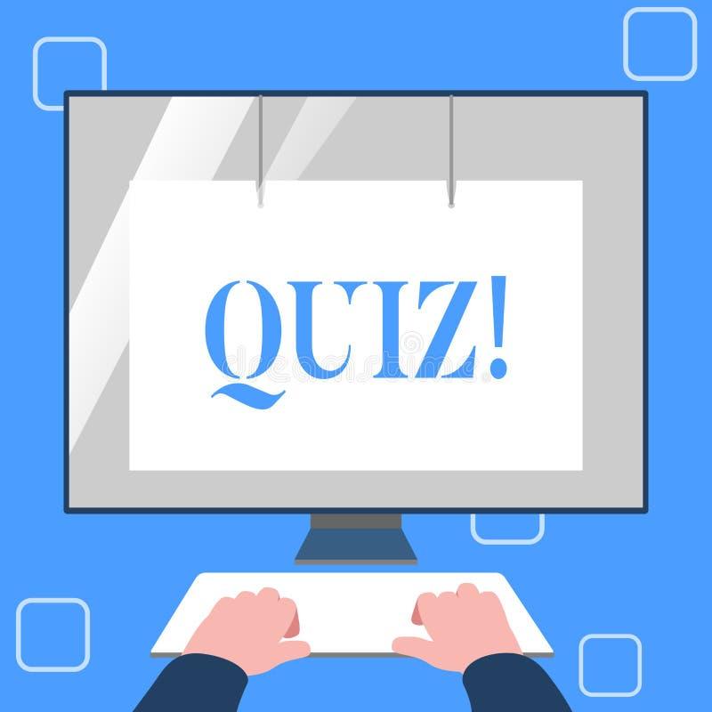 手写文本文字测验 定量您的知识的概念意思短的测试评估考试 皇族释放例证