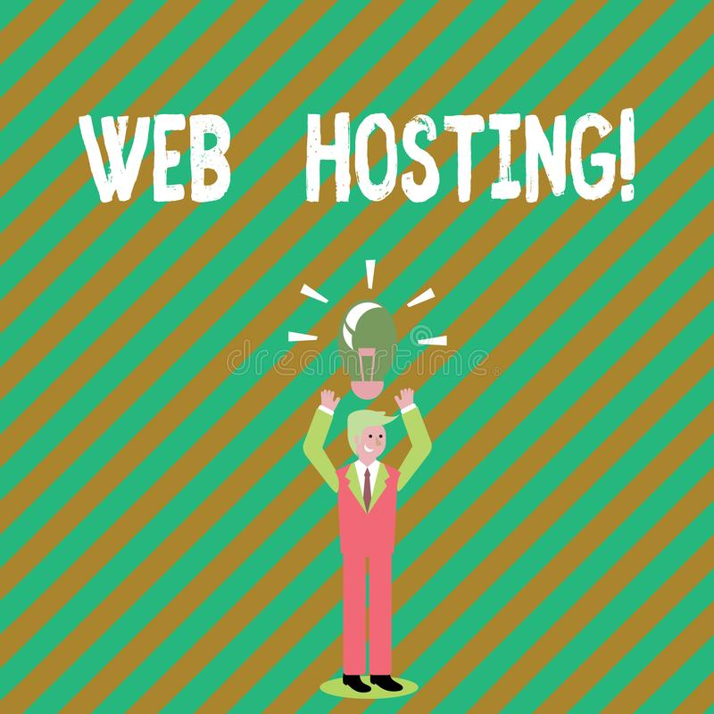 手写文本文字网络主持 概念意思允许某人使网站容易接近的服务器服务 皇族释放例证