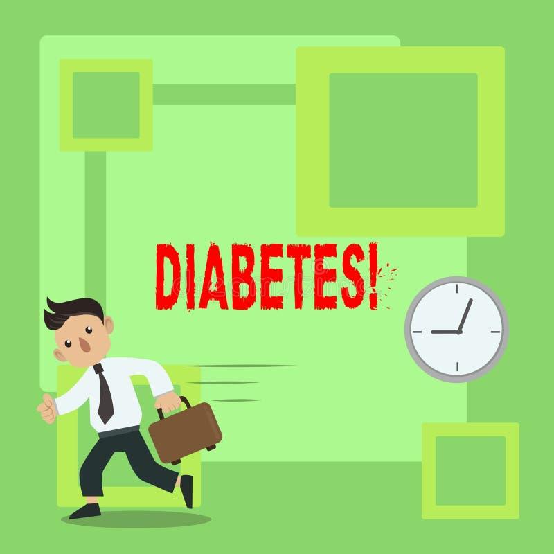 手写文本糖尿病 概念意思健康状况诊断用incresed高级糖 皇族释放例证