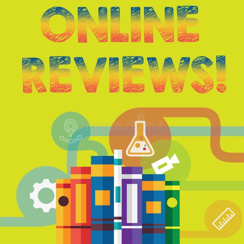 手写文本网上回顾 概念意思互联网评估用户额定值观点满意 向量例证