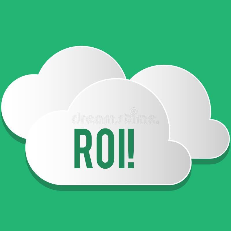手写文本Roi 意味在赢利Perforanalysisce企业效率的措施评估的概念回归 皇族释放例证