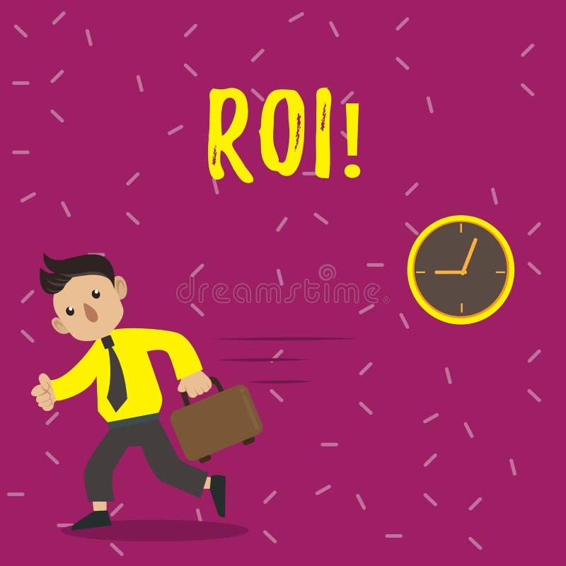 手写文本Roi 意味在赢利Perforanalysisce企业效率的措施评估的概念回归 向量例证