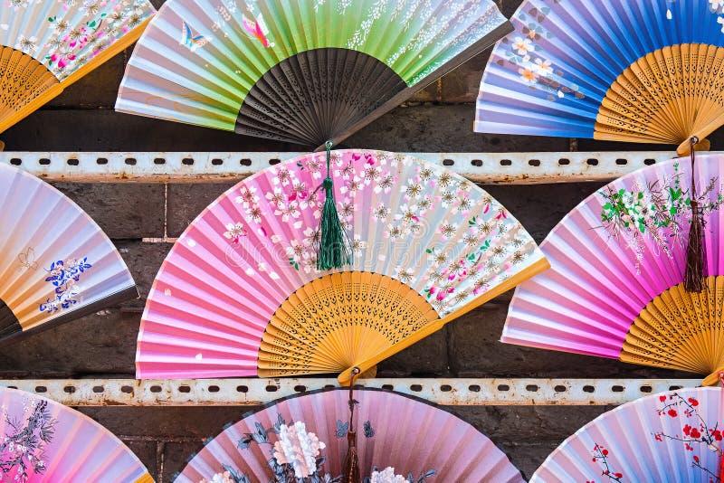 手爱好者不同颜色被显示待售 免版税库存照片
