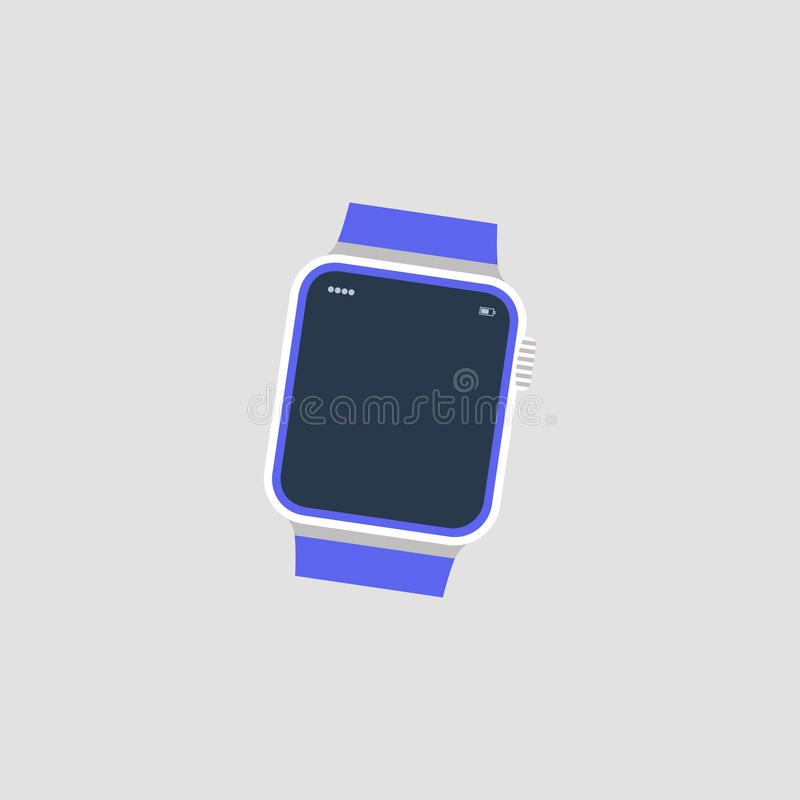 手表 时间 也corel凹道例证向量 10 eps 库存例证