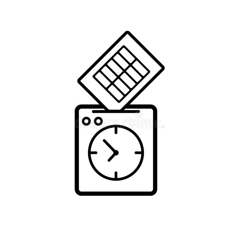 拳打时钟象 向量例证