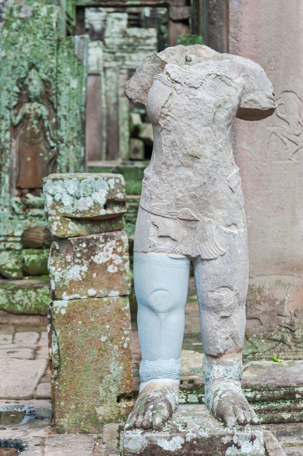 拜伦残破的雕象 免版税库存照片
